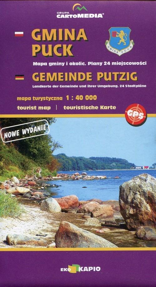 Gmina Puck mapa turystyczna 1:40 000
