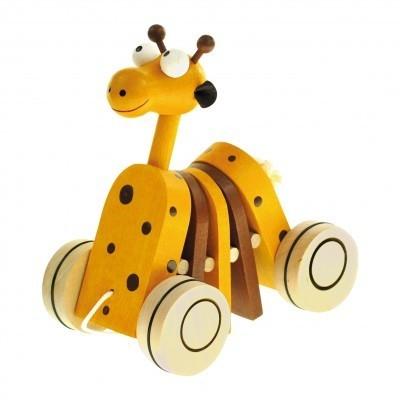 Drewniana żyrafka do ciągnięcia (90987)