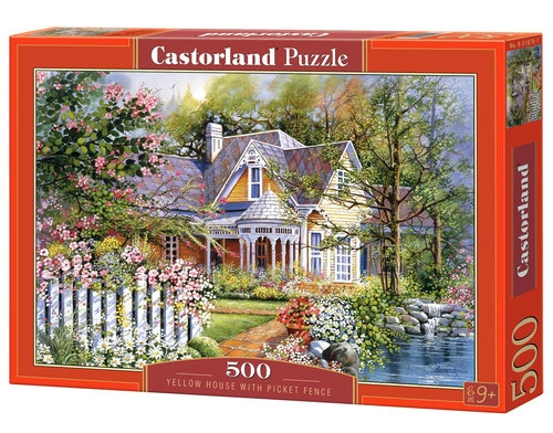 Puzzle 500 Yellow House with Picket Fence