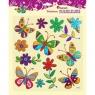 Naklejki dekoracyjne, 12 szt. - motyle, kwiaty (337489)