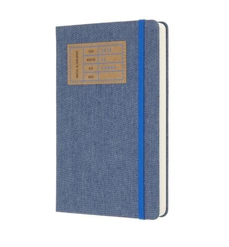 Kalendarz 2019 dzienny Moleskine 12M L edycja limitowana DENIM, twarda oprawa, niebieski