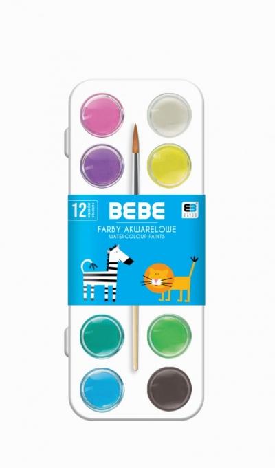 Farby akwarelowe 12 kolorów B&B Kids NOSTER