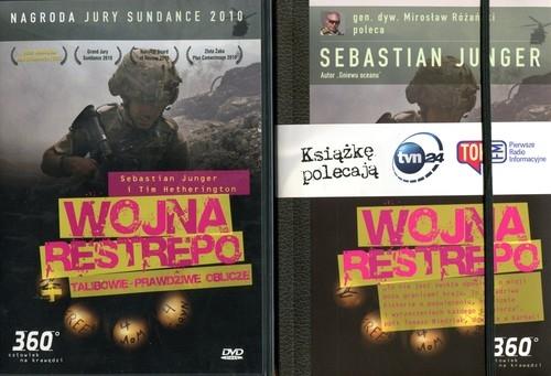 Wojna restrepo Talibowie Prawdziwe oblicze  DVD i książka Junger Sebastian