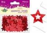 Konfetti gwiazdy czerwone 20 mm (14g)