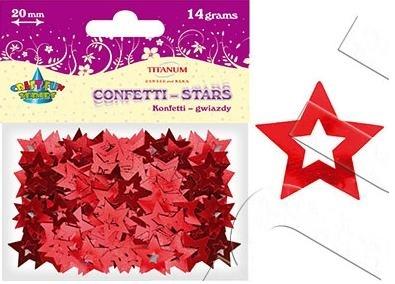 Konfetti gwiazdy czerwone 20 mm (14g) 260087