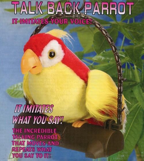 Papuga Pleciuga Ptaszek Dwa Kolory Powtarza Słowa