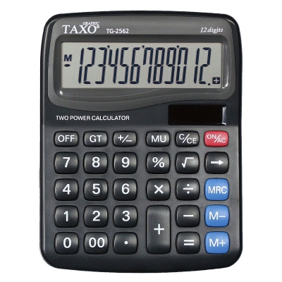 Kalkulator na biurko TG-2562 czarny Taxo Graphic 12-pozycyjny