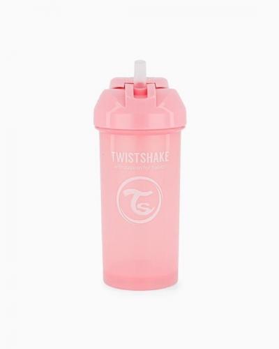 Twistshake Butelka ze Słomką 360ml Pastelowa Różowa