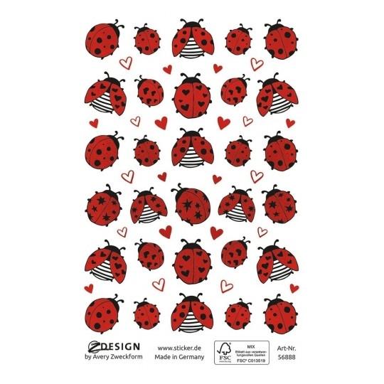Naklejki kreatywne Z Design - Biedronki, wytłaczane (56888)