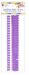 Płatkowe paski do quillingu stokrotka - fioletowe, 12 szt. (QGPQ-046)