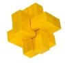 IQ-Test - Blokowy Krzyż, bambus, żółty, plastikowe pudełko