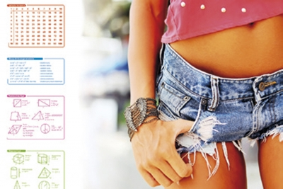 Mata na biurko z nadrukiem summer 0318-0048-75 Panta Plast
