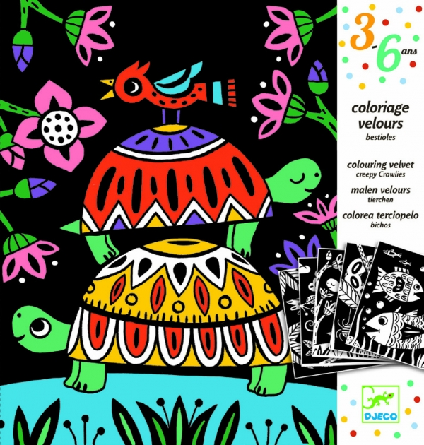 Welwetowa kolorowanka - zwierzątka (DJ09624)