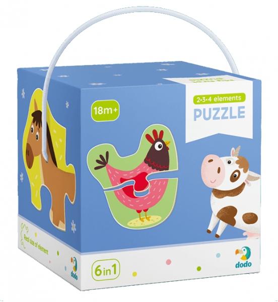 Puzzle 2-3-4: Zwierzęta na wsi (DOP300152)