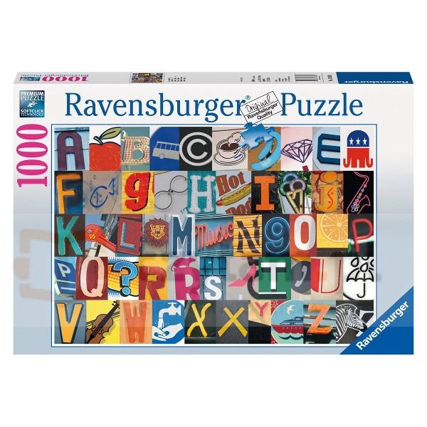 RAVEN. 1000 EL. Kolorowy alfabet (193882)