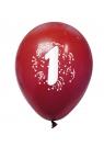 Balony pastelowe numer 1 (mix) (K7882)