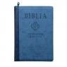 Biblia pierwszego Kościoła niebieska z paginatorami i suwakiem