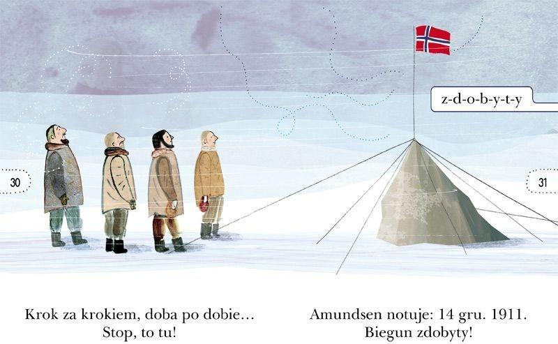 Czytam sobie. Wyprawa na biegun. O ekspedycji Amundsena. Poziom 1 Rafał Witek, Ewa Poklewska-Koziełło