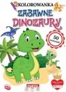 Kolorowanka z naklejkami. Zabawne dinozaury