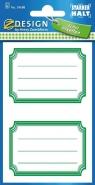 Naklejki na zeszyt zielone (59688)
