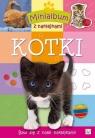 Minialbum z naklejkami Kotki