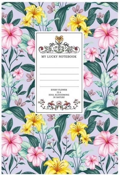 Notatnik ozdobny 145x197/80K kratka TW Kwiaty 3