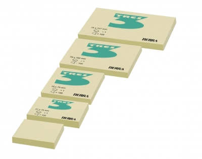 Notes pastel żółty 50mm x 75mm