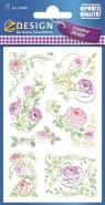 Naklejki z kwiatami - Pastelowe Róże (54488)