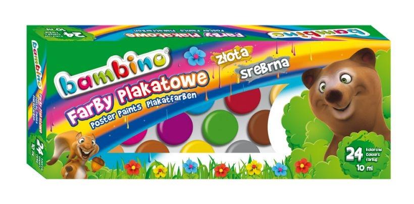 Farby plakatowe Bambino, 24 kolory