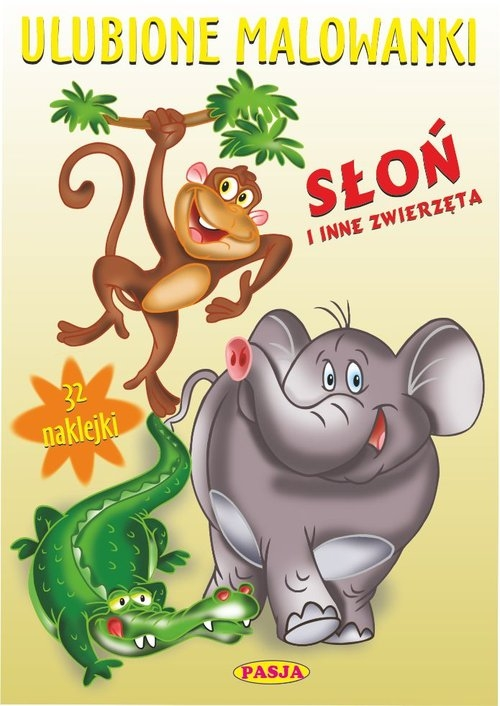 Ulubione malowanki Słoń i inne zwierzęta Błędowski Ernest