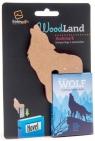 WoodLand Wolf drewniana zakładka do książki - Wilk