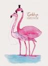 Karnet B6 Ślub - Flamingi
