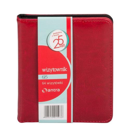 Wizytownik 64 dwuklatkowy 615 czerwony