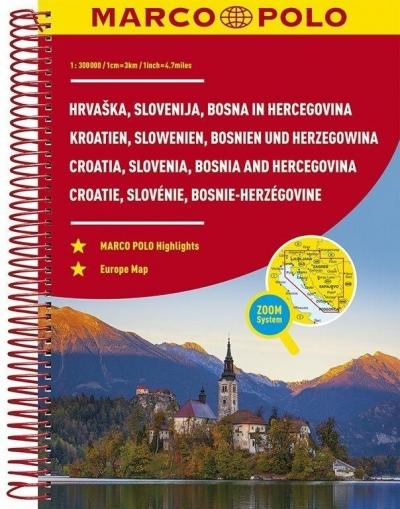 Atlas Chorwacja/Słowenia - 1:300 000 MARCO POLO praca zbiorowa