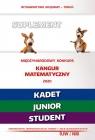 Matematyka z wesołym kangurem. Suplement 2020. Kadet/Junior/Student wielu autorów