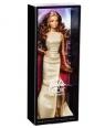 Barbie Look Lalka na czerwonym dywanie złota suknia