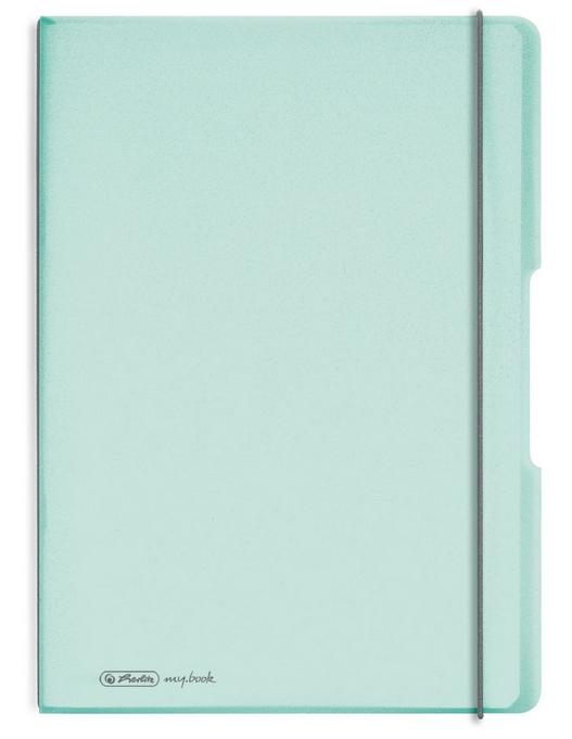 Notatnik my.book Flex A4/2x40k linia, kratka - pastelowy zielony (11408655)