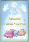Pamiątka chrztu świętego niebieska