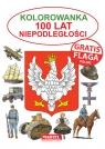 Kolorowanka 100 lat niepodległości flaga Gratis