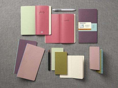Notes Moleskine Chapters Journal L w linie purpurowy