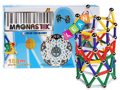 Klocki magnetyczne Magnastix 188 elementów