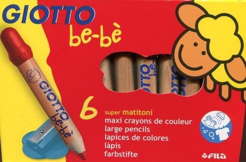 Kredki ołówkowe Giotto BeBe 6 kolorów