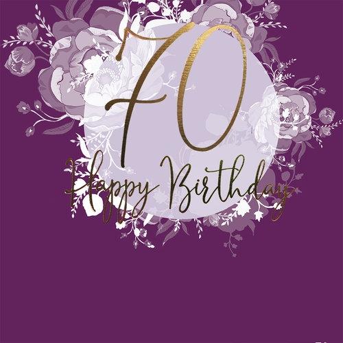 Karnet Swarovski kwadrat Urodziny 70