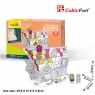 Puzzle 3D: Domek deserowy, zestaw do kolorowania (306-20688)