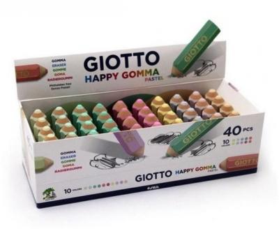 Gumka ołówek Happy Pastel (40szt) GIOTTO