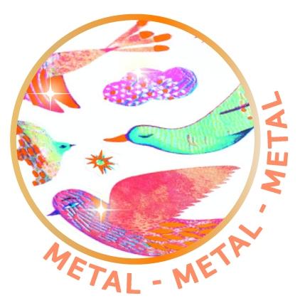 Naklejki metaliczne PTAKI (DJ09776)