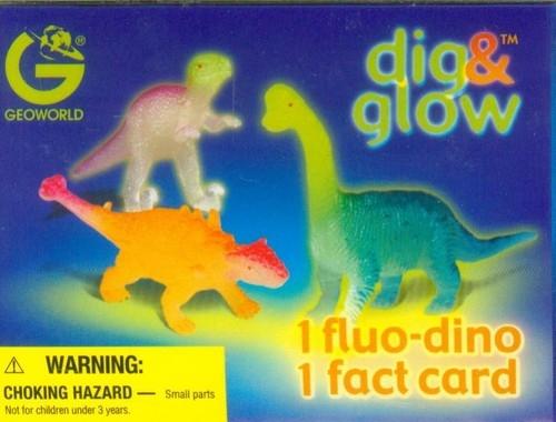 Wykopaliska Świecące dinozaury mini Carnotaurus
