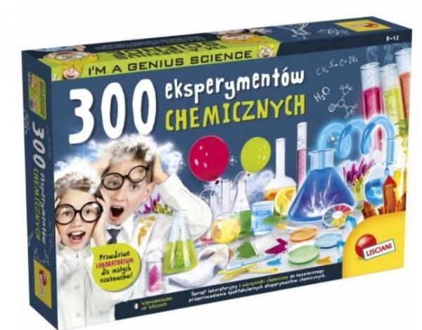Zestaw naukowy I'm A Genius 300 eksperymentów chemicznych (304-PL62362)