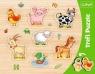Ramkowa układanka kształtowa Zwierzęta na wsi