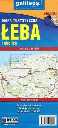 Mapa turystyczna - Łeba i okolice 1:10 000 praca zbiorowa
